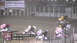 Highlights: World of Outlaws STP Sprint Cars River Cities Speedway June 20th, 2014