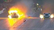 Huge fireball explosion for Funny Car driver Bob Bode