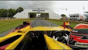 Brendon Hartley with Porsche at Goodwood