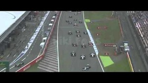 Felipe Massa crashes at the start of the German GP