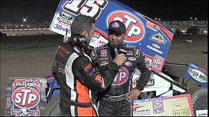 World of Outlaws STP Sprint Car Series Victory Lane from Ohsweken Speedway