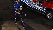 Hamlin throws HANS Device - Wrecked while leading at Bristol