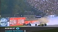 Herbert & Schumacher Crash - 1997 Italian gp