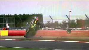 Collard flips in huge accident - 2014 BTCC Silverstone