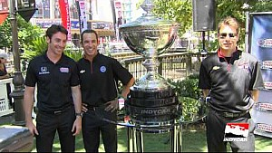 Driver Simon Pagenaud Red Carpet interview from the INDYCAR championship celebration
