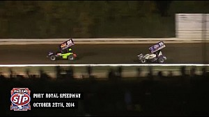 Highlights: World of Outlaws STP Sprint Cars Port Royal Speedway October 25th, 2014