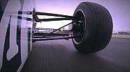 David Coulthard and BBC F1 test Williams FW08 & FW36 at Silverstone