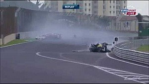 WEC 6 Hours of Sao Paulo 2014: huge crash of Mark Webber and Matteo Cressoni