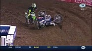 Watch Tyler Bowers completely T-bone Cooper Webb at the Oakland Supercross