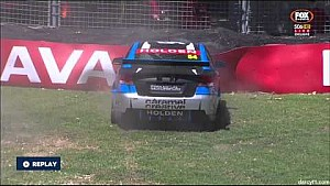 Garry Jacobson crash - V8 Supercars Dunlop Series 2015 Adelaide practice