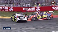 V8 Supercars Dunlop Series 2015 Adelaide Kean, Hansen collision