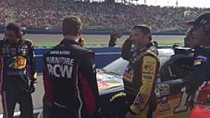 Tony Stewart not happy with Martin Truex Jr.