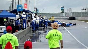 Francesco Dracone/Todd Phillip pit lane accident, spectator view