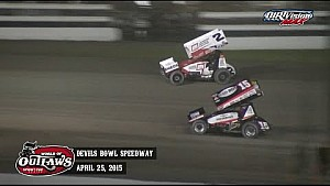 Highlights: World of Outlaws Sprint Cars Devils Bowl Speedway April 25th, 2015