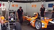 Formula E car swap practice by Simona de Silvestro