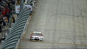 Harvick hits wall during post-race burnout