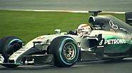 Martin Brundle pilote la Mercedes W06 Hybrid