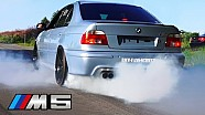 BMW M5 Sound V8 Exhaust E39 Burnout Acceleration REVS Revving Tire Smoke Test Drive BMW Fans Schweiz