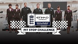 England cricketers Morgan, Root and Butler in pit stop challenge