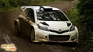 Eric Camilli testing the Toyota Yaris WRC in Finland