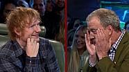 Ed Sheeran crasht bijna met de reasonably priced car van Top Gear!