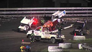 Tony Stewart Breaks Leg in Huge Sprint Car Crash