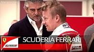 Kimi's 2016 Scuderia Ferrari seat fitting