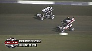 Highlights: World of Outlaws Craftsman Sprint Cars Royal Purple Raceway February 27th, 2016