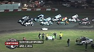 Highlights: World of Outlaws Craftsman Sprint Cars Silver Dollar Speedway April 2nd, 2016
