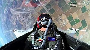 Graham Rahal Rides with the Thunderbirds