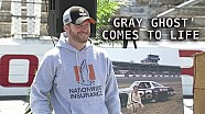 Dale Jr. brings 'Gray Ghost' back to life in Darlington unveil