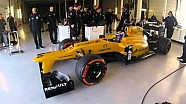 Nicholas Latifi testing the Renault F1 car at Silverstone