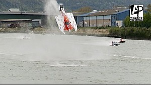 Massive hydroplane crash at the 24 Hours of Rouen