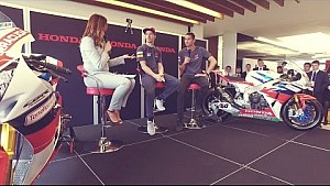 Hayden and van der Mark at Honda Motor Europe's headquarters