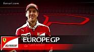 The Europe GP with Sebastian Vettel - Scuderia Ferrari 2016