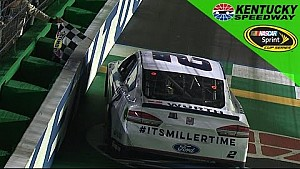 Keselowski stretches his fuel to win at Kentucky
