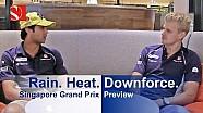 Lluvia. Calor. Carga aerodinámica - Gran Premio de Singapur - Sauber F1 Team