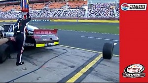Jones suffers uncontrolled tire penalty late at Charlotte