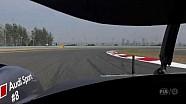 Круг по трассе – запись с бортовой камеры экипажа Audi #8