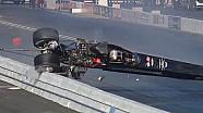 NHRA racer Fred Hanssen walks away from Incredible crash in Pomona