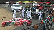 Allan McNish crash Le Mans 2011