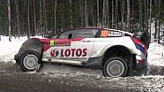 Kubica crashes after jump on SS12 - WRC Rally Sweden 2014