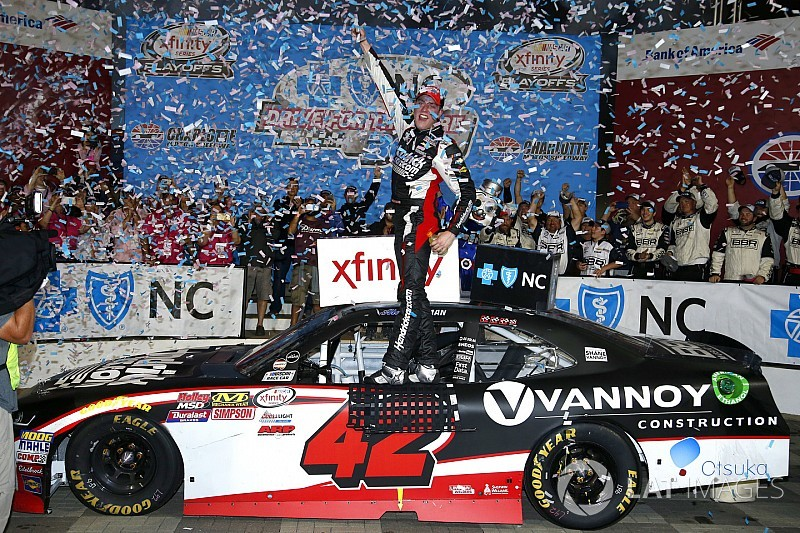 Alex Bowman grabs his first NASCAR Xfinity Series victory at Charlotte