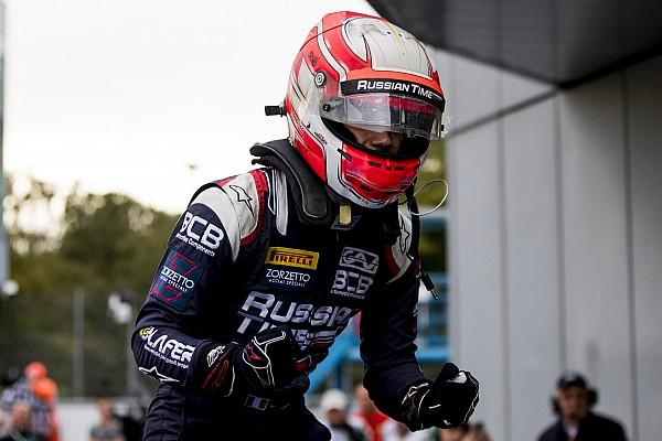 FIA F2 Race report Sprint Race F2 Italia: Ghiotto raih kemenangan, Gelael kembali cetak poin