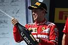 Vettel'in şampanyasından Macaristan podyumu