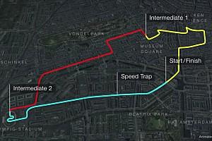 Animatie: Stratencircuit voor F1 Grand Prix in Amsterdam