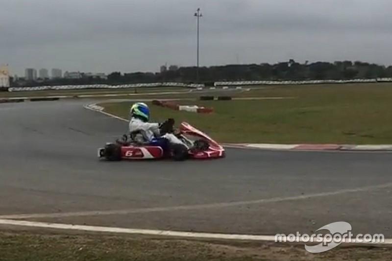 De olho em retorno à F1, Massa treina com kart em Interlagos