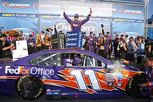 NASCAR Cup Race report Denny Hamlin scores first win of 2017 at New Hampshire