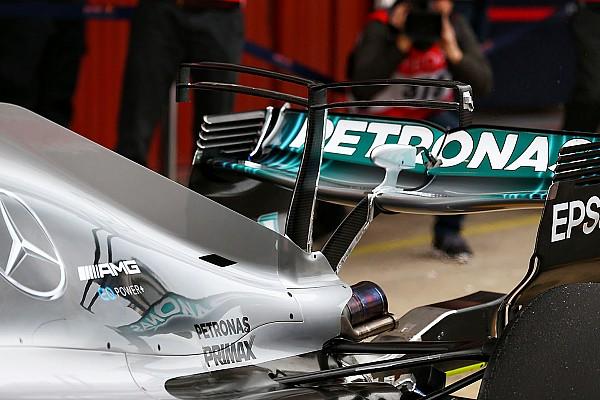 """F1 速報ニュース 【F1】バルセロナテスト:メルセデス、""""ダブルTウイング""""をテスト"""