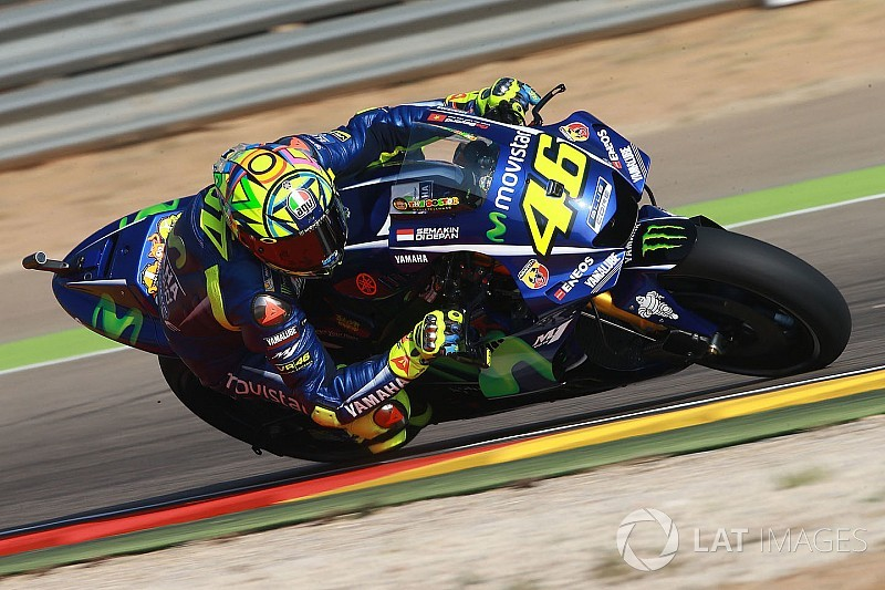 "Rossi expects to ""suffer"" in Aragon race despite front row"